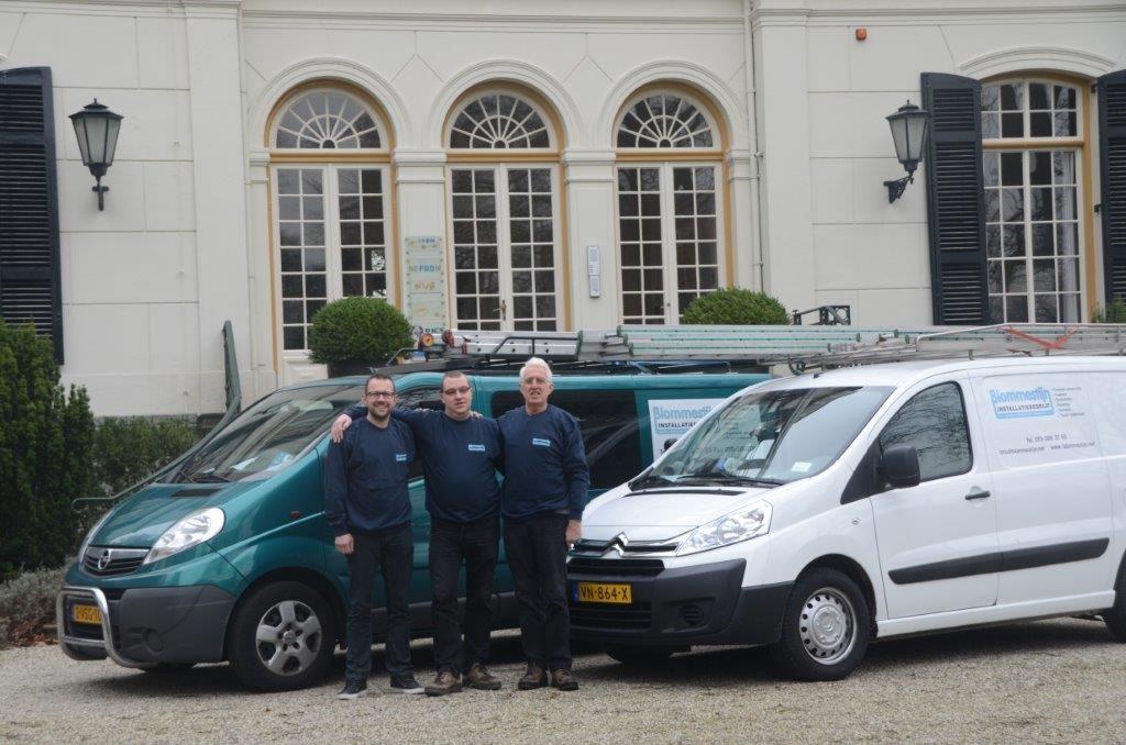 Het team achter Blommestijn Installatiebedrijf